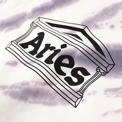 Aries x Umbro Tie Die Pro 64 Pullover Sweatshirt Dusk Spiral Detail