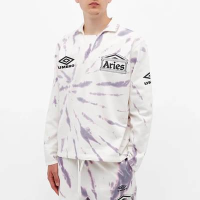 Aries x Umbro Tie Die Pro 64 Pullover Sweatshirt Dusk Spiral Front