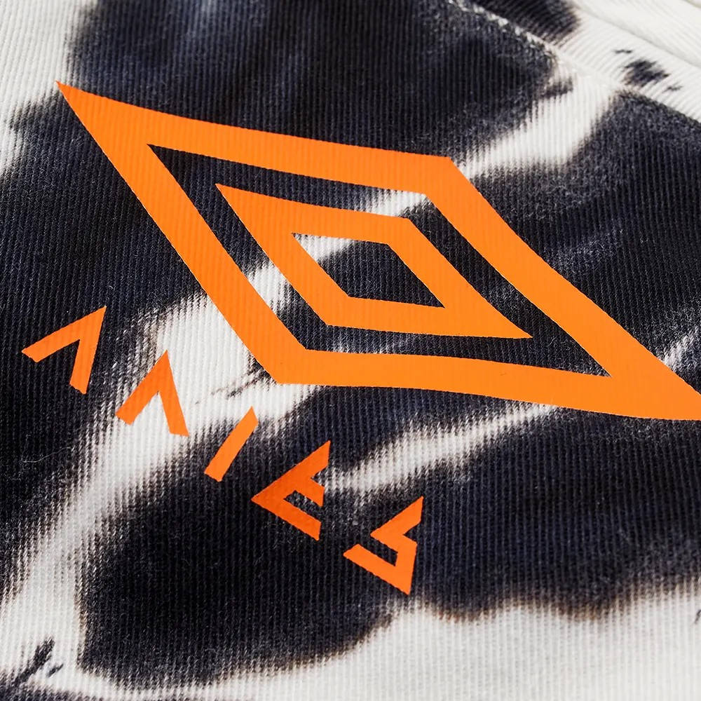 Aries x Umbro Tie Dye Pro 64 Pant Black Spiral Detail