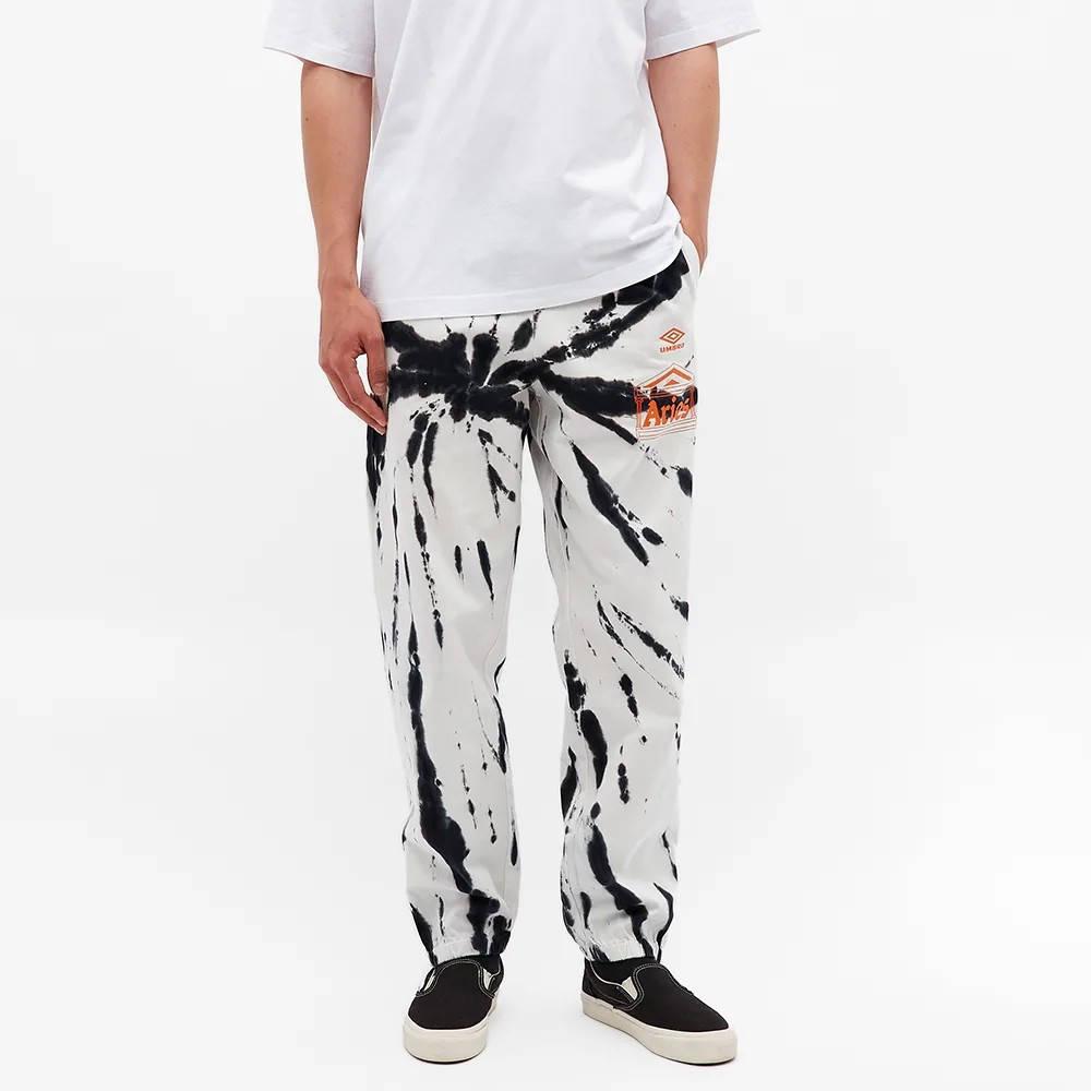 Aries x Umbro Tie Dye Pro 64 Pant Black Spiral Front