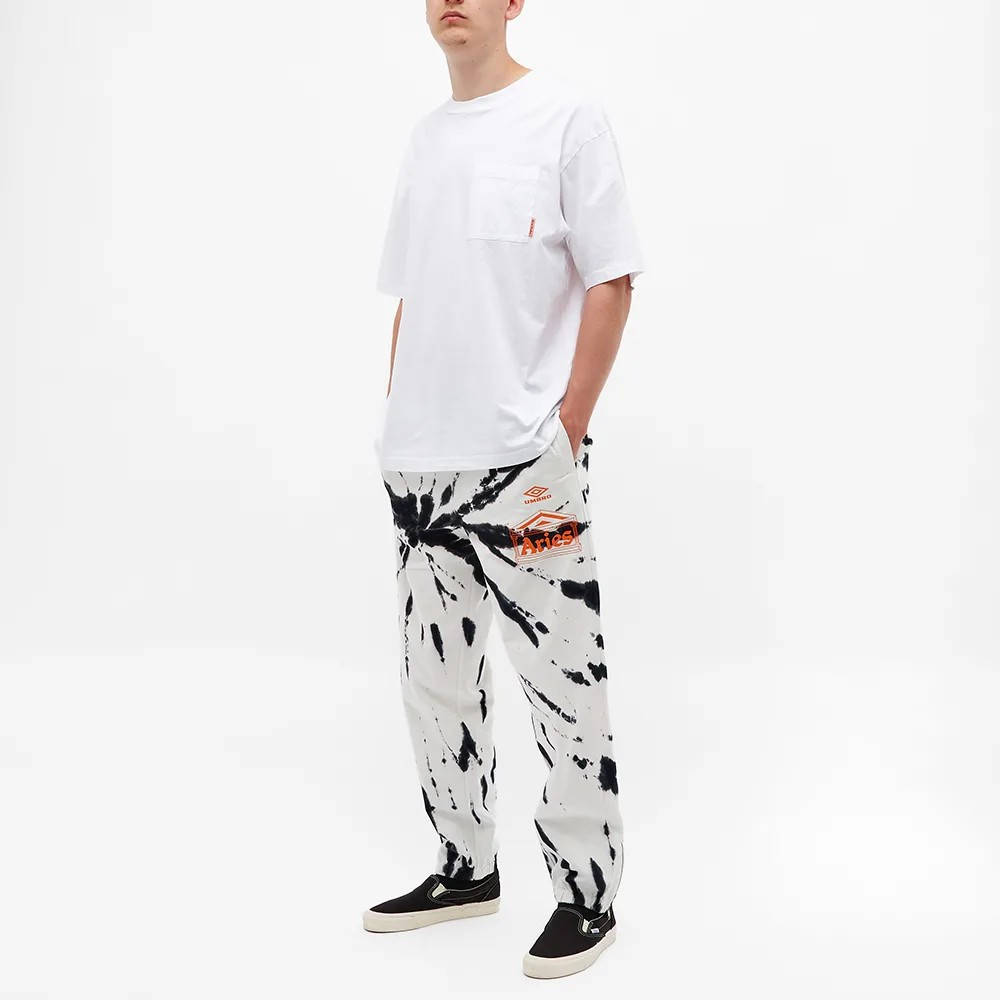 Aries x Umbro Tie Dye Pro 64 Pant Black Spiral Full