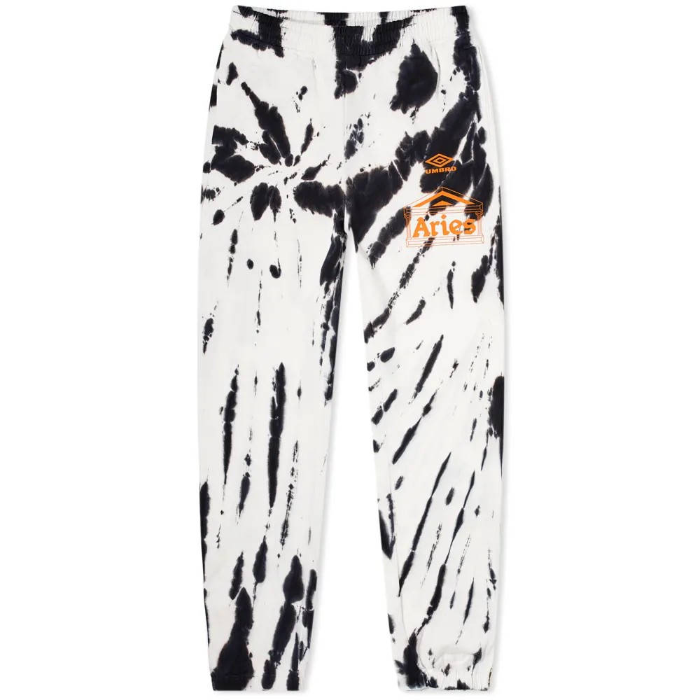 Aries x Umbro Tie Dye Pro 64 Pant Black Spiral