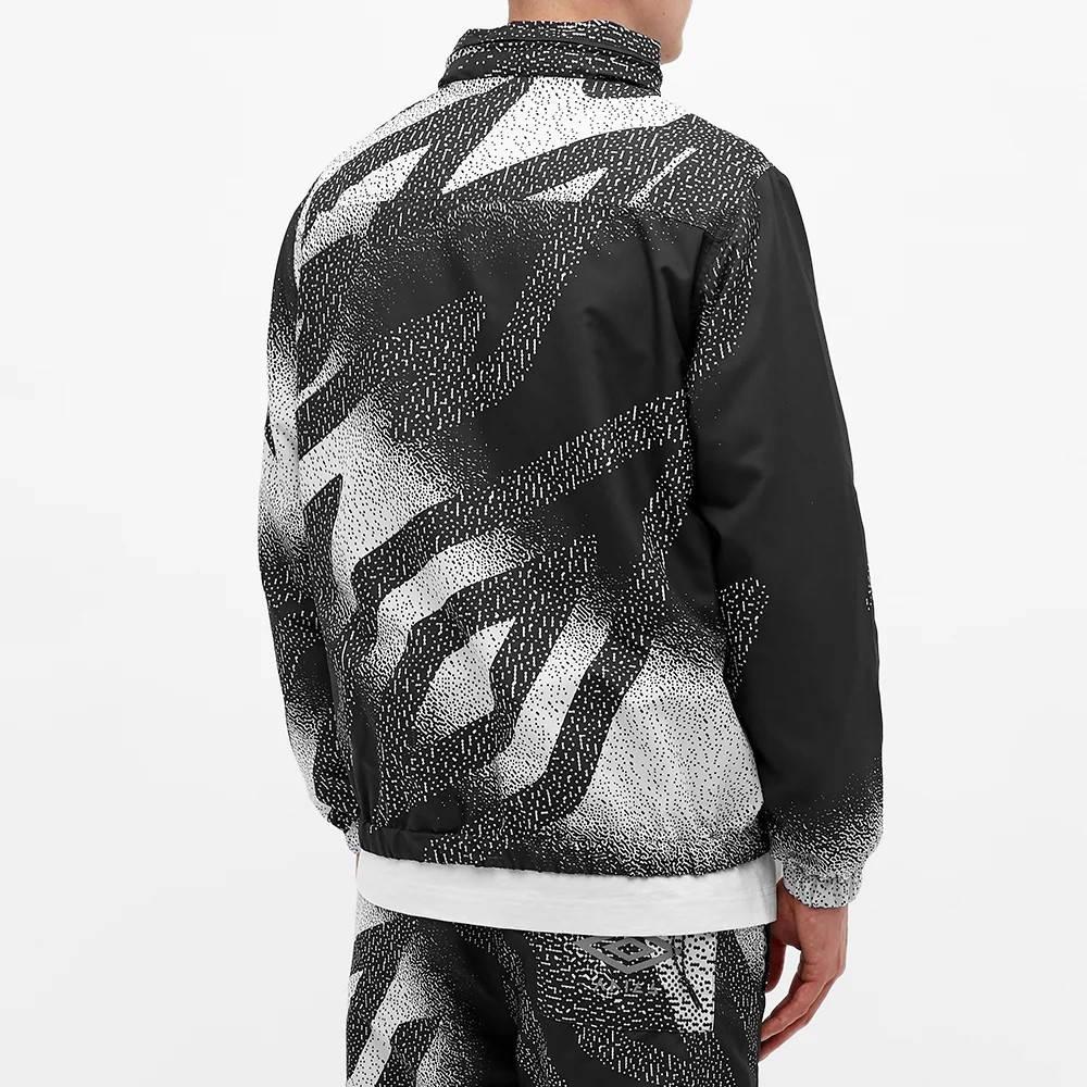 Aries x Umbro Training Jacket Black White Back