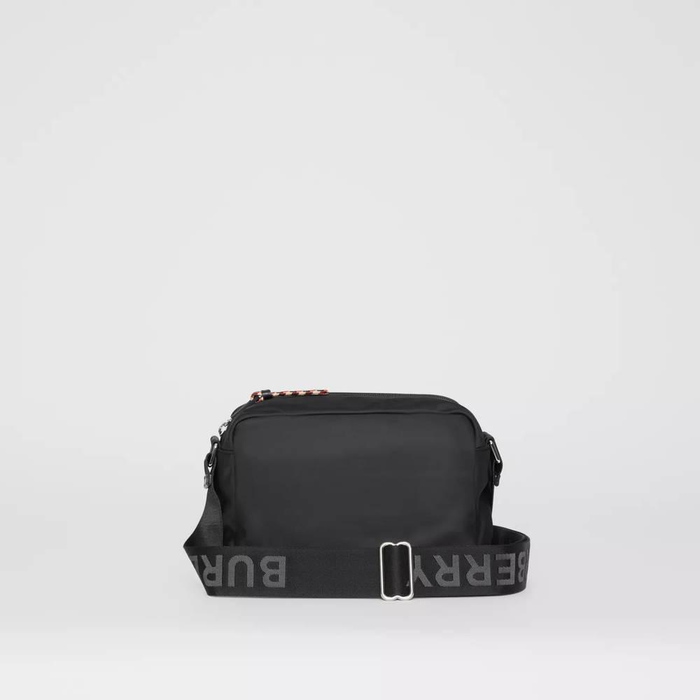 Burberry Logo Detail ECONYL Crossbody Bag Black Back 2