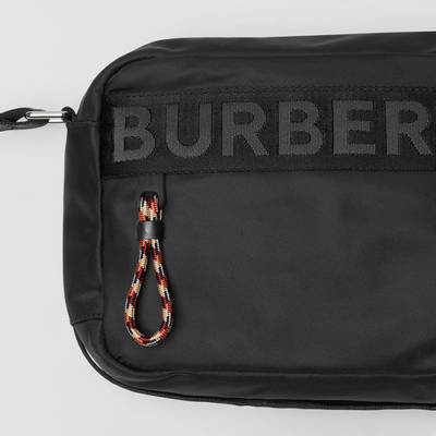 Burberry Logo Detail ECONYL Crossbody Bag Black Detail