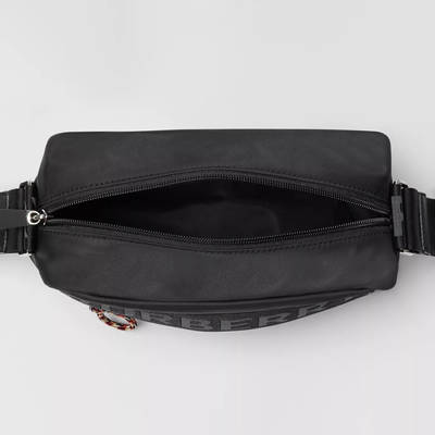 Burberry Logo Detail ECONYL Crossbody Bag Black TOp