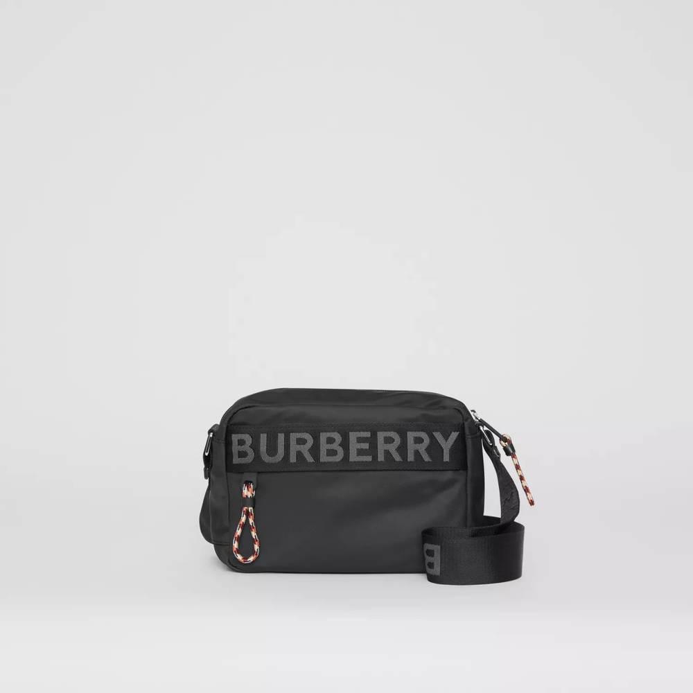 Burberry Logo Detail ECONYL Crossbody Bag Black