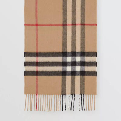 Burberry The Classic Check Cashmere Scarf Archive Beige Detail