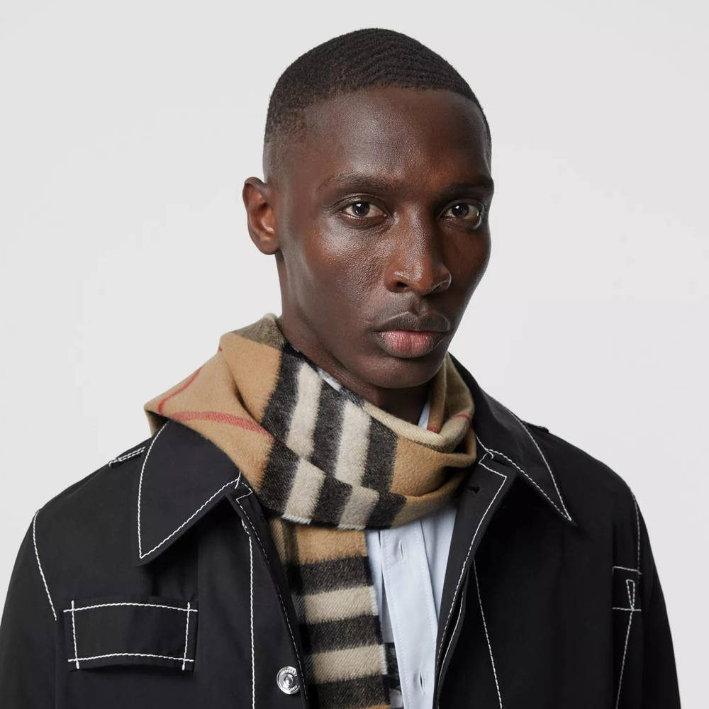 Burberry The Classic Check Cashmere Scarf Archive Beige Front