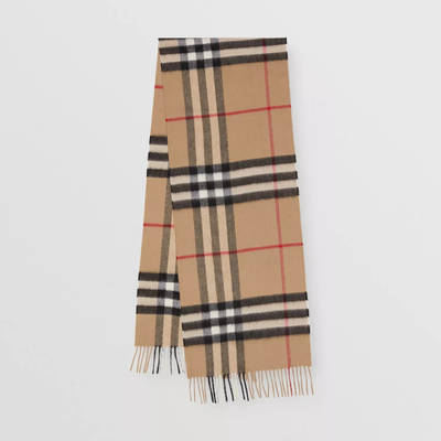 Burberry The Classic Check Cashmere Scarf Archive Beige