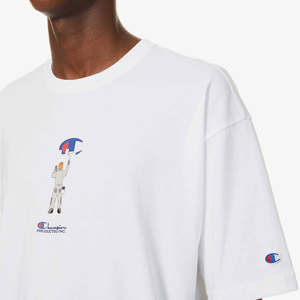 Champion Painter Graphic Print T-Shirt White Detail