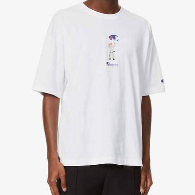 Champion Painter Graphic Print T-Shirt White Front