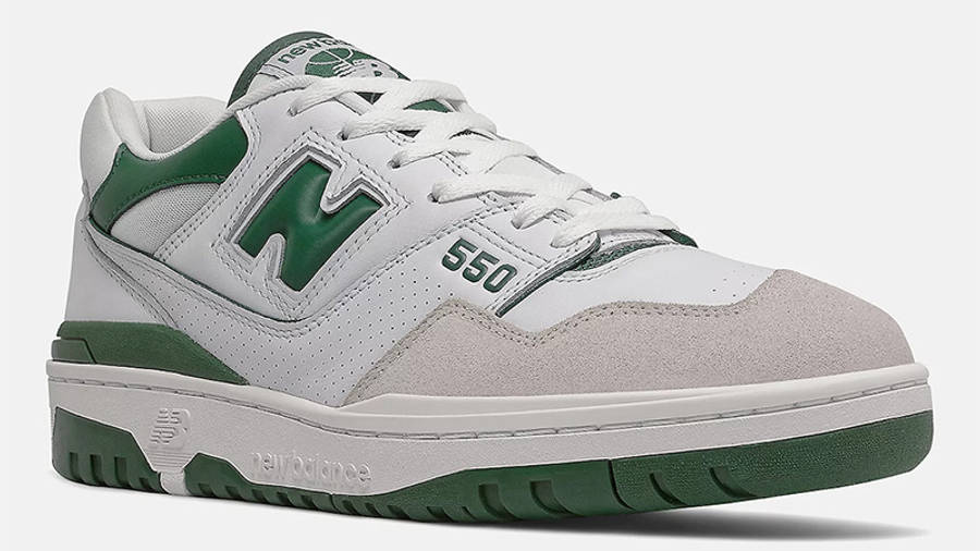 New Balance 550 White Green BB550WT1 front