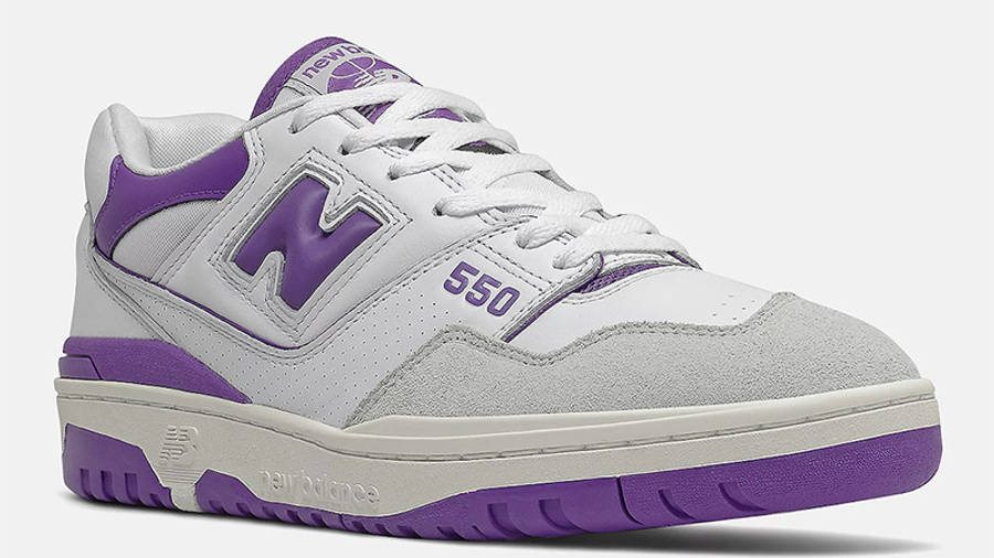 New Balance 550 White Purple BB550WR1 front