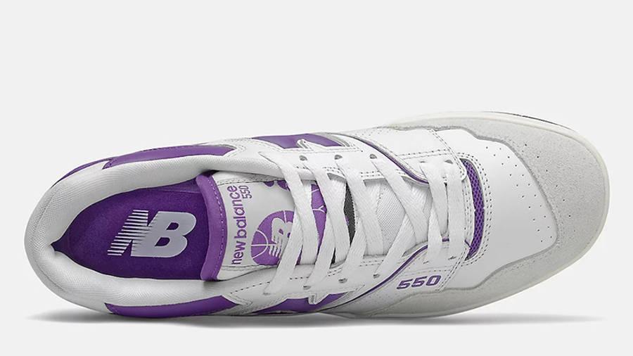 New Balance 550 White Purple BB550WR1 middle