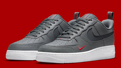 Nike Air Force 1 Grey Red White DN4433-00 front