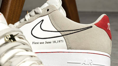Nike Air Force 1 Low First Use Light Stone First Look Closeup