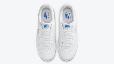 Nike Air Force 1 Low Multi Swoosh White Blue Middle