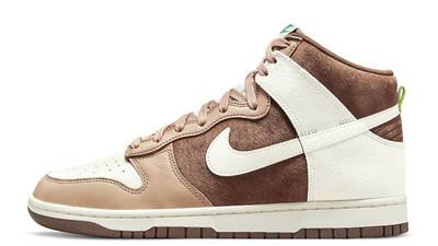 Nike Dunk High Light Chocolate Sail