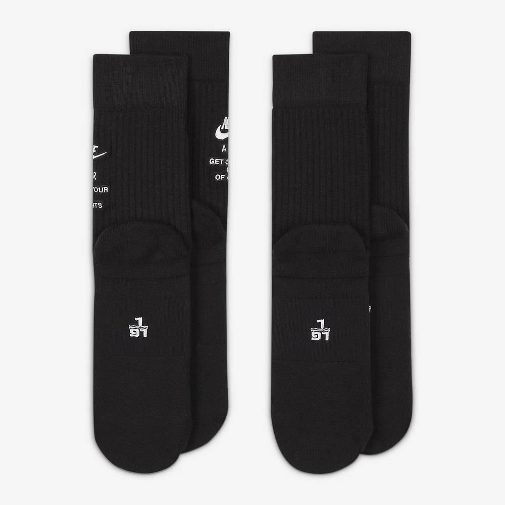 Nike SNEAKR Sox Crew Socks DA2584-010 Back