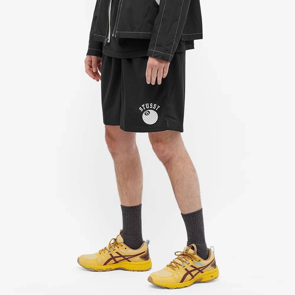 Stussy 8-Ball Mesh Shorts Black Front