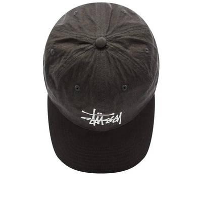 Stussy Big Logo Low Pro Cap Charcoal Top