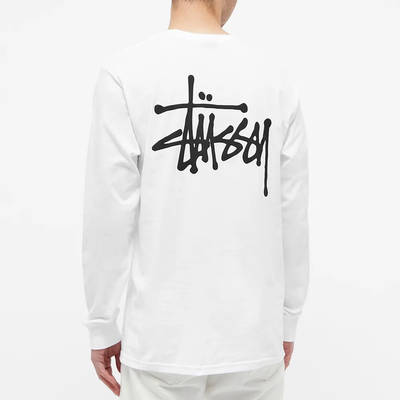 Stussy Long Sleeve Basic Stussy T-Shirt White Back