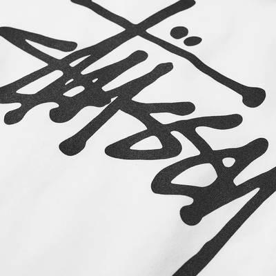 Stussy Long Sleeve Basic Stussy T-Shirt White Detail 2