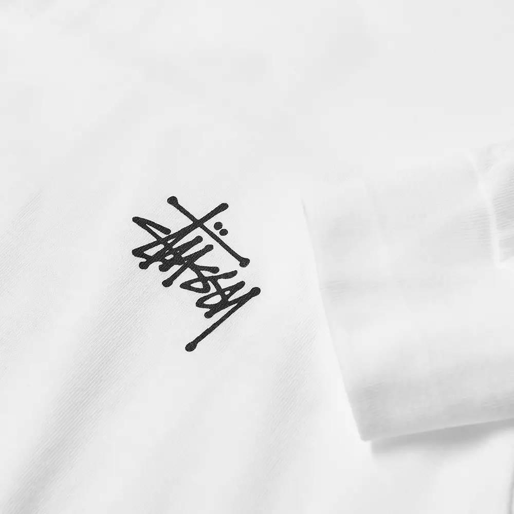 Stussy Long Sleeve Basic Stussy T-Shirt White Detail
