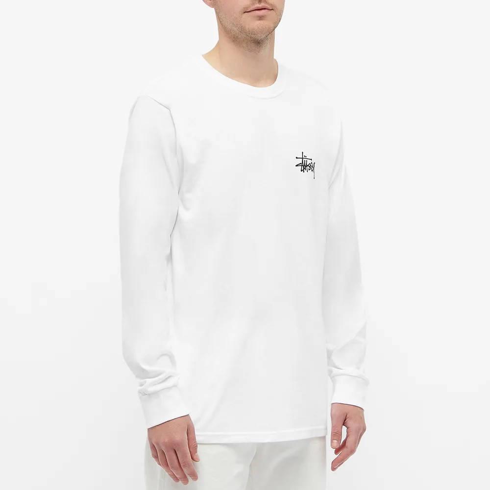 Stussy Long Sleeve Basic Stussy T-Shirt White Front