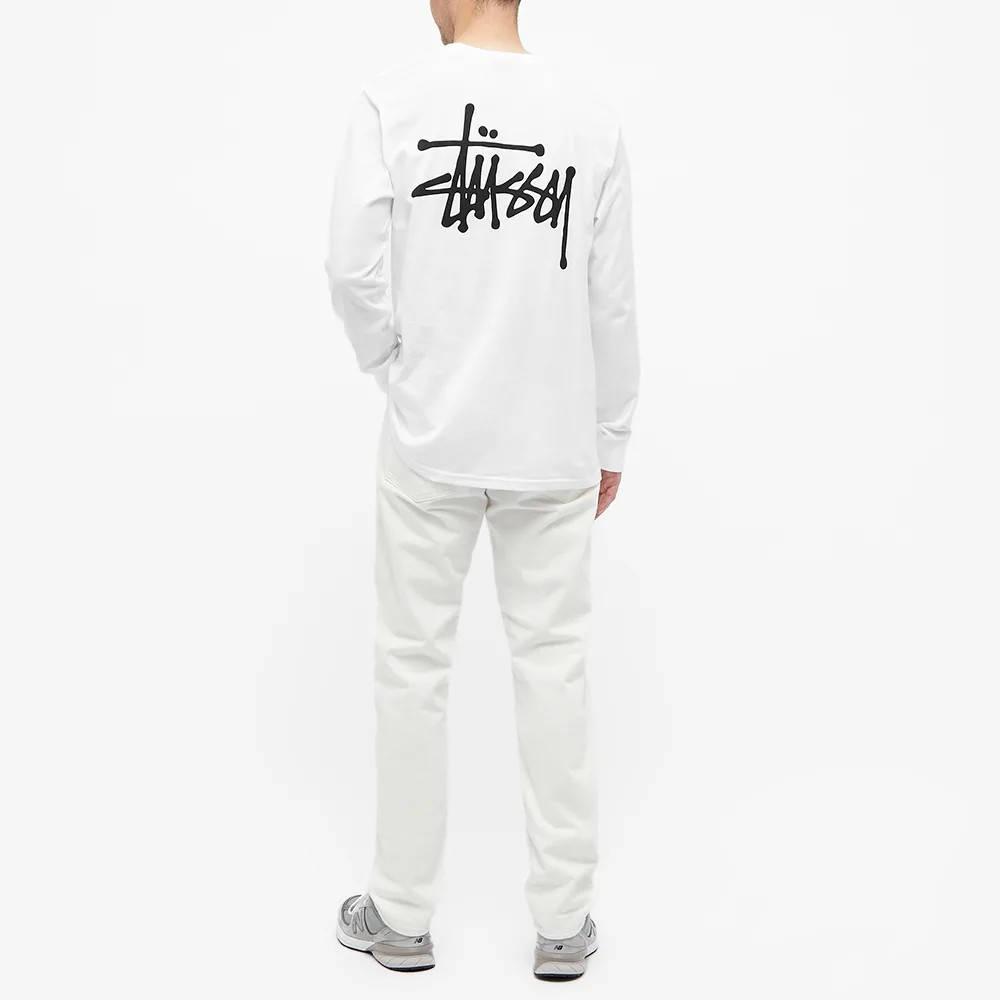 Stussy Long Sleeve Basic Stussy T-Shirt White Full