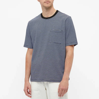 Stussy Mini Stripe T-Shirt Black Front