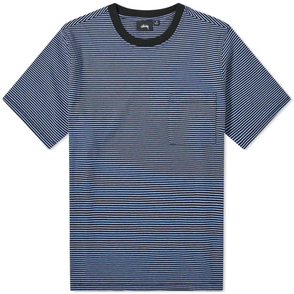 Stussy Mini Stripe T-Shirt Black