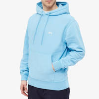 Stussy Stock Logo Hoodie Blue Front