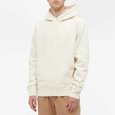 Stussy Stock Logo Hoodie Oatmeal Front