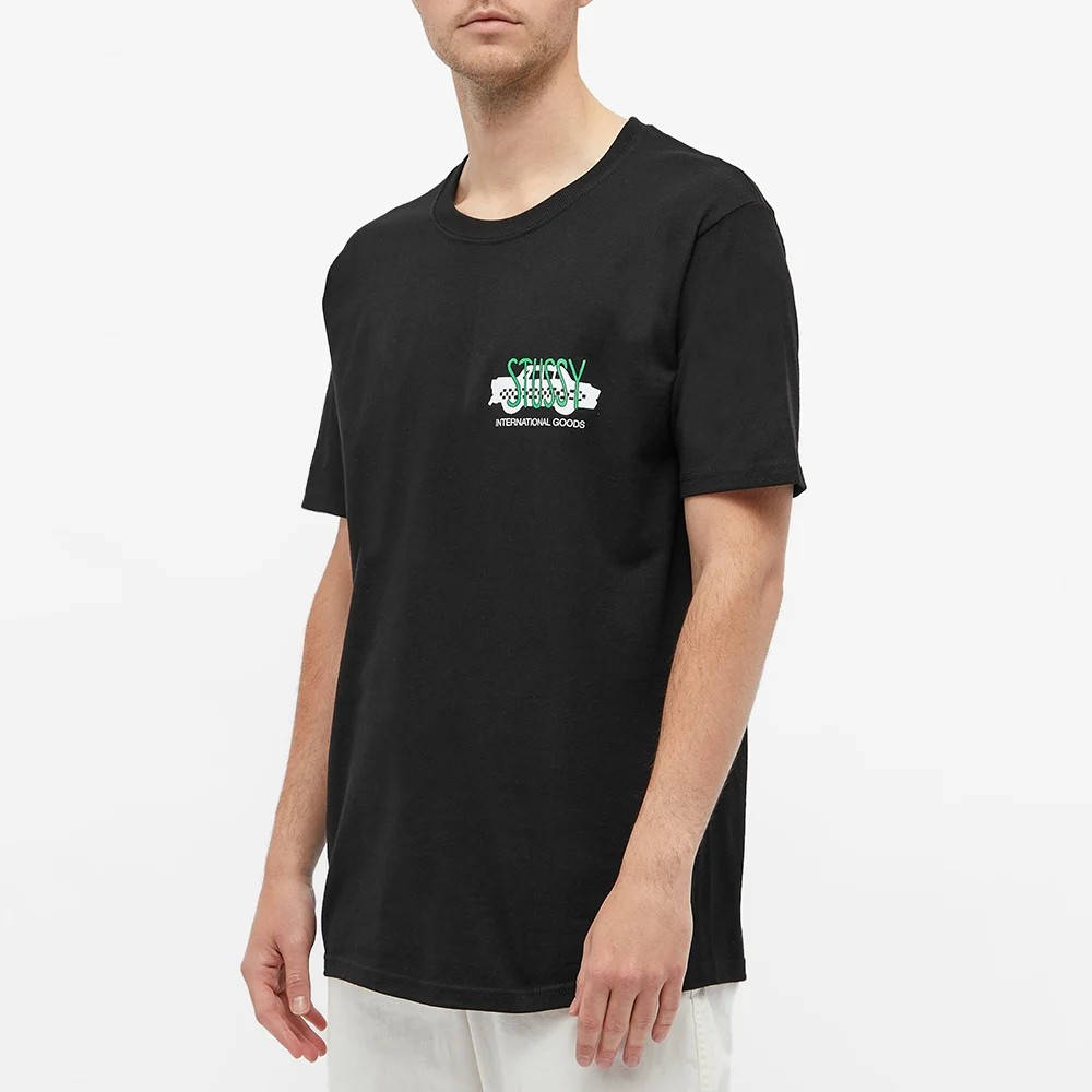 Stussy Taxi Cab T-Shirt Black Front