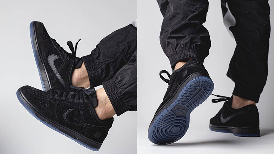 UNDEFEATED x Nike Dunk Low Dunk Vs AF-1 DO9329-001 on foot back