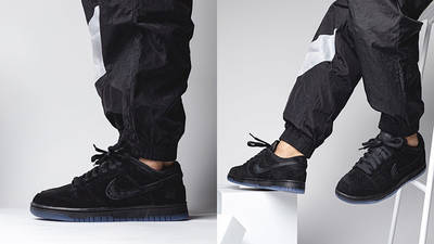 UNDEFEATED x Nike Dunk Low Dunk Vs AF-1 DO9329-001 on foot side