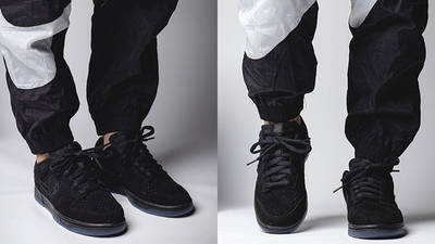 UNDEFEATED x Nike Dunk Low Dunk Vs AF-1 DO9329-001 on foot