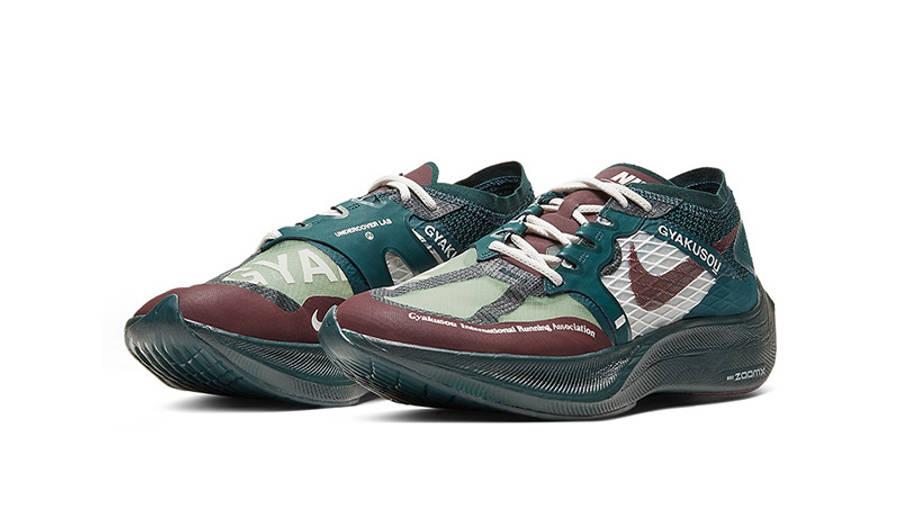 Undercover x Nike Gyakusou ZoomX VaporFly Next 2 Green Burgundy CT4894-300 front