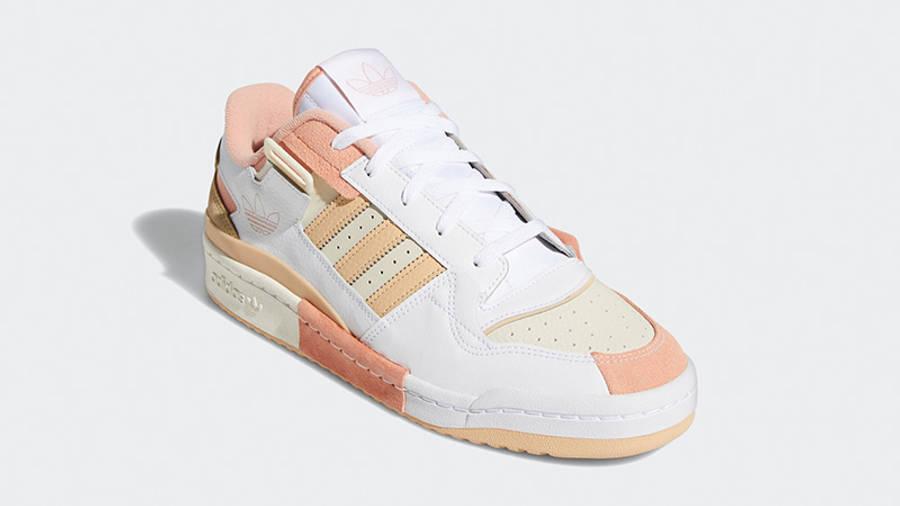 adidas Forum Exhibit Low White Amber GZ5389 front
