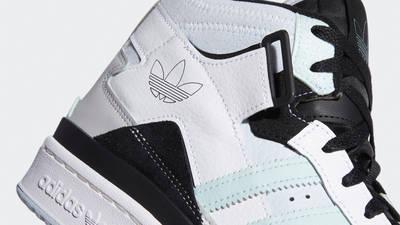 adidas Forum Exhibit Mid White Black Halo Mint Closeup