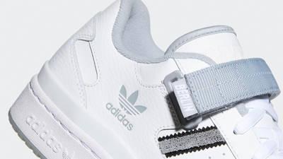 adidas Forum Low City White Halo Silver Closeup