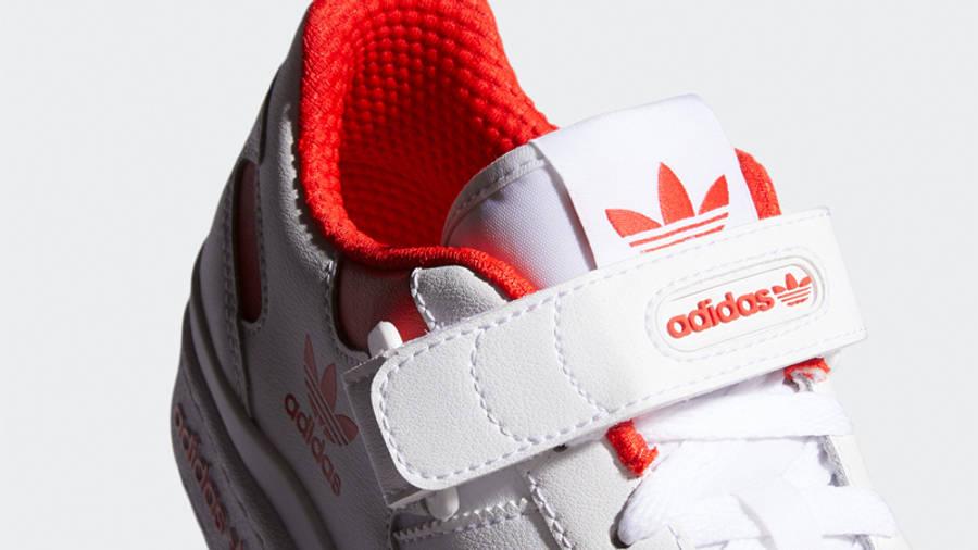 adidas Forum Low City White Red Closeup