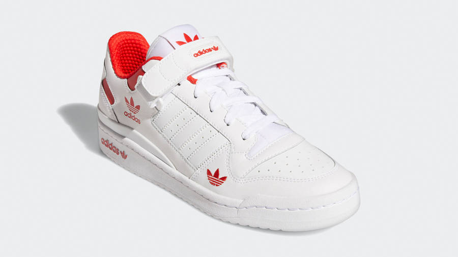 adidas Forum Low City White Red Front