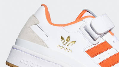 adidas Forum Low White True Orange Closeup