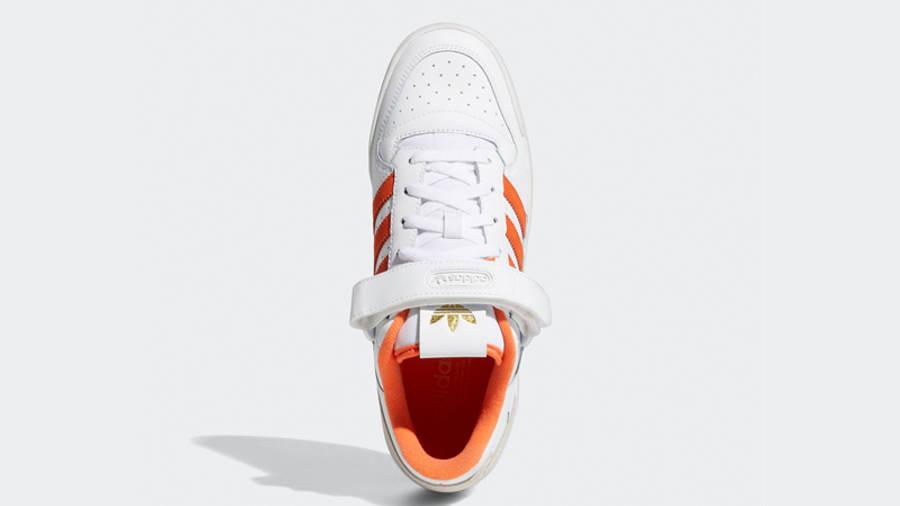 adidas Forum Low White True Orange Middle