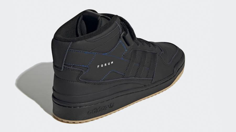 adidas Forum Mid Black Gum Back