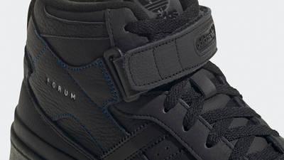 adidas Forum Mid Black Gum Closeup