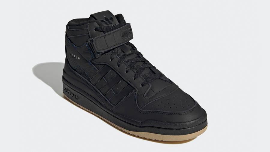 adidas Forum Mid Black Gum Front